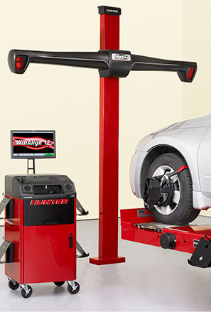 Wheel alignment service block