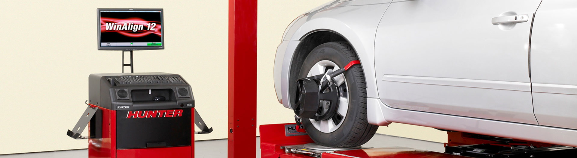 Wheel alignment header 2