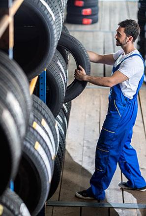 Tyres service block